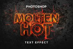 Text design can be just as important as the logo itself. The Molten Text Effect Design Mockup can surely help you make your own good text designs with ease. Photoshop Design, Free Photoshop, Photoshop Tutorial, Photoshop Actions, Photoshop For Photographers, Photoshop Photography, Photoshop Text Effects, 3d Text Effect, Web Design