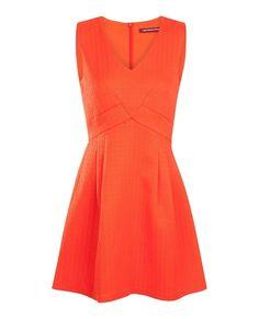 Robe orange de Sandrine Quétier #Loto