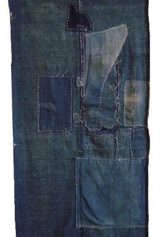 Very layered stitched boro panel