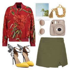 Untitled #97 by vicki-shiu on Polyvore featuring Dolce&Gabbana, Topshop, Chanel, Le Specs Luxe, Fujifilm, xO Design, Summer, butterfly and bomberjackets