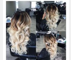 Love the balayage blend Blonde Hair Looks, Brown Blonde Hair, Balayage Hair Blonde, Ombre Hair, Dark Hair, Bayalage, Hair Color And Cut, Pinterest Hair, Hair Highlights