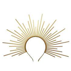 Gold Christmas Halo Crown Sunburst Halo crystal crown goddess zip tie Halo Crown Gold Virgin Mary Heavenly Bodies gothic wedding headpiece Wedding Headdress, Gold Headpiece, Wedding Hair Accessories, Costume Accessories, Halo Headband, Golden Goddess, Headbands For Women, Bandeau, Fascinators