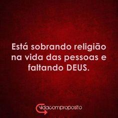 menos RELIGIÃO mais JESUS!