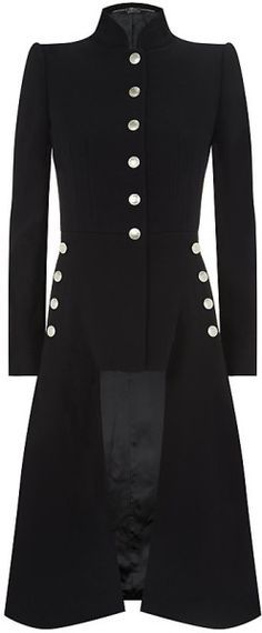 Love this:ALEXANDER MCQUEEN Military Cutaway Coat @Lyst