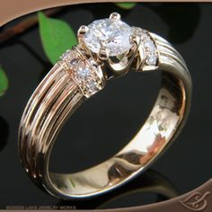 My new custom designed ring by Green Lake Jewelry Works.