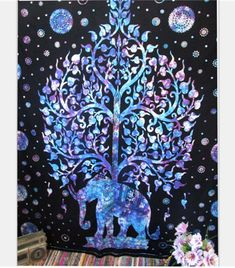 Indian Elephant Tapestry Aubusson Colored Printed Decor Mandala Tapestry Religious Boho Wall Carpet LivingRoom Blanket Plus Size Tie Dye Tapestry, Bohemian Tapestry, Indian Tapestry, Mandala Tapestry, Hippie Tapestries, Tapestry Beach, Mandala Blanket, Large Tapestries, Bohemian Bedspread
