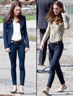 Kate Middleton in J Brand jeans.