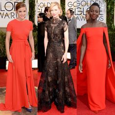 Golden Globes Best Dressed 2014. Emma Watson, Cate Blanchett, Lupita Nyong'o