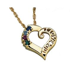 Buy I Love You Family Birthstone Necklace at Limoges