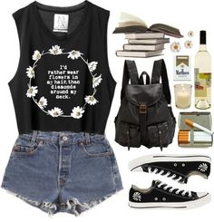 Cute hipster outfit minus the cigarettes