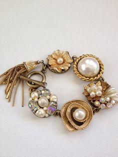 Upcycled bracelet upcycle recycle repurpose by ChicMaddiesBoutique, $45.00