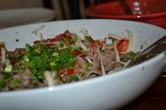 Salpicón De Res (Central American Shredded Beef Salad). Photo by ChelseaW