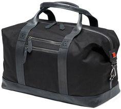 Travel Bags | Giorgio Fedon 1919 Michael Wong Duffle Bag - Dark Grey/Black | @ KJ Beckett #travel #bags #for #men
