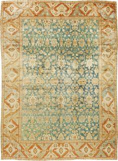 Persian rugs: Persian rug (antique) rug in green pantone greenery color, oriental rug, oriental pattern for modern, elegant interior decor, rug in living room #rug #persianrug