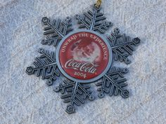 2004 Pewter Coca Cola Christmas Ornament with Santa Claus, Unwrap the Experience #CocaCola