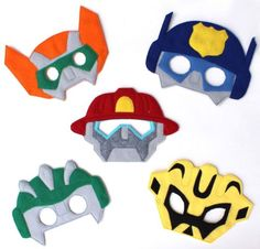 Kids-Face-Mask-Halloween-Transformers-Costume-Rescue-Bots-Party-Favors-Robots