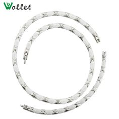 Cheap ceramic necklace, Buy Quality necklaces for women directly from China necklace necklace Suppliers: Wollet Christmas Gift Healing Energy Titanium Magnetic Germanium White Ceramic Necklace for Women