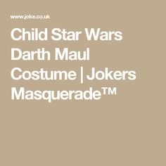Child Star Wars Darth Maul Costume | Jokers Masquerade™
