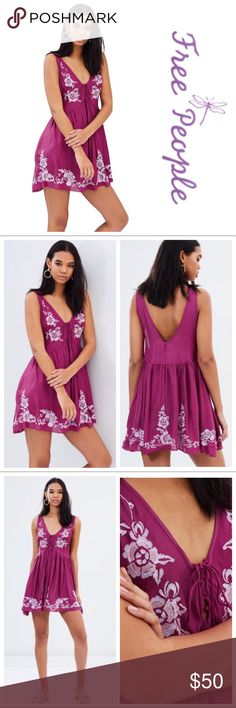 d6957a345074 Free People Aida Slip Sheer slip featuring a femme babydoll silhouette with  beautiful floral embroidery throughout