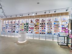 "The materials have been selected to give the impression of being in a ""modern - warm- natural & professional"" pharmacy. Dibon brushed it is used at the storefront and for the medicaments wall to give a modern and futuristic image for the brand."
