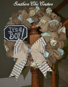 Hey, I found this really awesome Etsy listing at https://www.etsy.com/listing/199436306/new-baby-boy-wreath-hospital-wreath