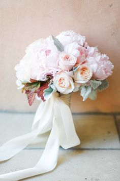 "smpweddings: "" Breathtaking pink peony + rose wedding bouquet Photography: B. Schwartz Photography """