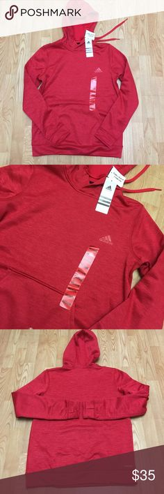 Red adidas hoodie This cute red adidas hoodie is a size medium. Brand new with tags. Open to offers adidas Sweaters