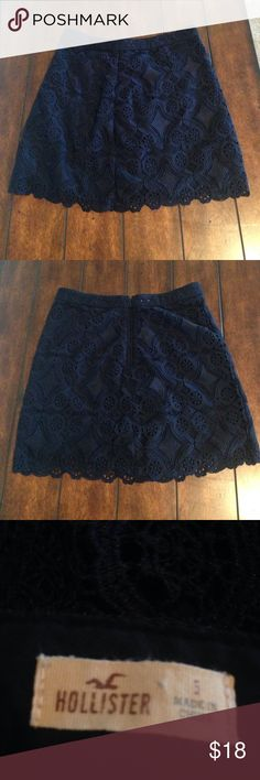 NWOT ~ Hollister Skirt Size 5 New without tags size 5 Hollister skirt. No snags! Please feel free to make a REASONABLE offer, as the worst I can do is decline. Listed 8/16/17. Hollister Skirts Mini