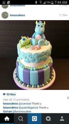 baby shower monsters inc cake..