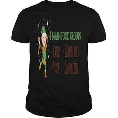 I Love  4 Main Food Groups - Candy Corn Cane Syrup Christmas Elf T Shirt by bullquacky----YEZWRCH Shirts & Tees