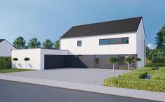 BL526 | Maisons Blavier - construction maison clé sur porte Casa Hipster, Architecture Design, Modern Garage, Construction, House 2, Home Deco, Facade, Sweet Home, New Homes