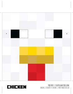 Playful Matters's Birthday / MInecraft masks mobs - Photo Gallery at Catch My Party Minecraft Mask, Minecraft Party, 8th Birthday, Birthday Parties, Birthday Ideas, Chicken Costumes, Paint Party, Creative, Cloud