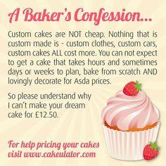 Custom cake confession