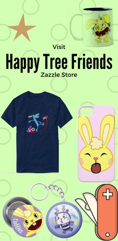 Here some funny design on different Product from Happy Tree Friends. Samsung Cases, Iphone Cases, Happy Tree Friends, Get Happy, Funny Design, Wallets, Random Stuff, Cups, Store