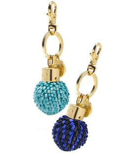 Tory Burch pom-pom key fob, $55 each, toryburch.com