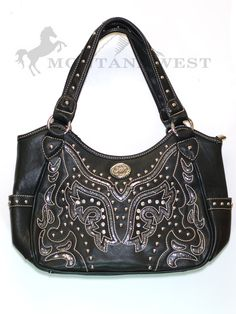 4a59aa776b Montana West Cut-Out Western Style Rhinestone Purse