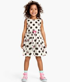 girls cotton Cat dress - H&M CA