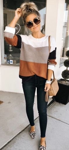 Simple Fall Outfits, Fall Fashion Trends, Winter Fashion Outfits, Cute Casual Outfits, Fall Winter Outfits, Look Fashion, Fall Outfit Ideas, Cute Sweater Outfits, Sweater And Jeans Outfit