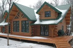 Splendid Log Home for $56,000 Must See Interior and Floor Plans