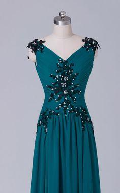 #bridesmaiddress blue bridesmaid long chiffon dress