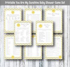 Printable You Are My Sunshine Baby Shower by SmatsPrintableCafe