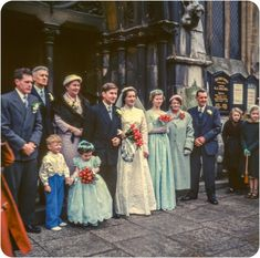 Found Colour Snapshots of a Bygone St Ives (1958-1960) - Flashbak Wedding Dress Trends, Gorgeous Wedding Dress, Beautiful Bride, Wedding Gowns, Wedding Parties, Vintage Wedding Photos, Vintage Bridal, Vintage Weddings, Wedding Pictures