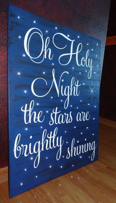Private Listing for Jennifer~Oh Holy Night the stars are brightly shining~hand painted Christmas canvas art with lights for Jennifer by CherryCreekCrafts on Etsy.  Custom sizes and colors available. https://www.etsy.com/shop/CherryCreekCrafts