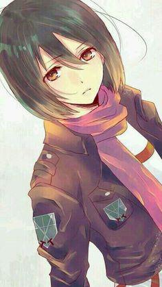 Kawaii Mikasa QWQ  ... that eyes