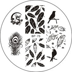 $1.99 Various Butterfly Nail Art Stamping Template Image Plate BORN PRETTY BP74 - BornPrettyStore.com