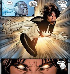 Monica Rambeau Capitana Marvel, Capitán Marvel II, Photon y Pulsar. En la actualidad es conocida como Spectrum