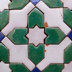 tiles, Alhambra, Granada, Spain