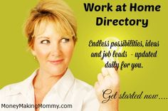 Work From Home Directory. Easy to navigate directory of work at home companies and jobs. #workathome