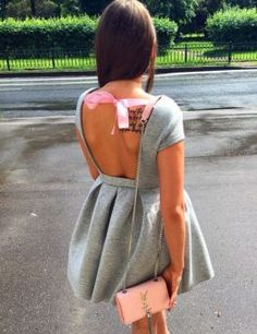 Babe Cute Backless Dress