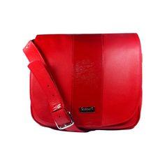 Cartera de cuero super ondera - Esquel roja - VESKI Chile  veski.cl  red leather handbag purse